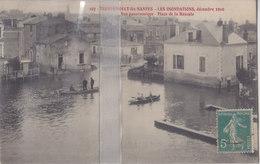 CPA  TRENTEMOULT-LES-NANTES INONDATIONS 1910 PLACE DE LA BASCULE - Francia