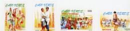 Cap Vert-Cabo Verde-1999-Danses Folkloriques, Musique-738/41***MNH-