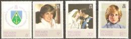 Pitcairn Islands 1982 226-29 Princess Diana Unmounted Mint