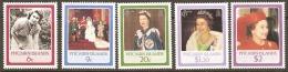 Pitcairn Islands 1986 285-9 Quenn Elizabeth 11 Birthday Unmounted Mint