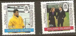 Pitcairn Islands 1986 290-91 Royal Wedding Unmounted Mint
