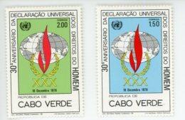 Cap Vert-Cabo Verde-1978-Droits De L´homme-401/2***MNH