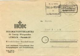 Kriegsgefangenen- Und Zivilinterniertenpost Portofrei Von 1959 Aus Lübeck