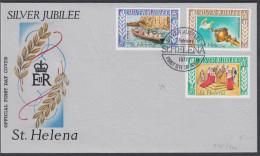 "Saint Helena Island 1977, FDC Cover ""Queen Elizabeth Silver Jubilee"" W./postmakr ""St.Helena"" - Saint Helena Island"