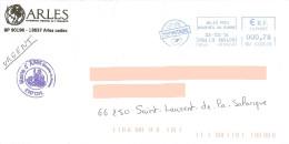EMA HU 720578 Bouches Du Rhône Sur Enveloppe Mairie D'Arles Lion Löwe