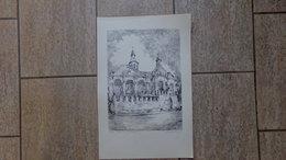 Vilvoorde Troostkerk Door Gesigneerd 38/200 Ex. 1976 - Estampes & Gravures