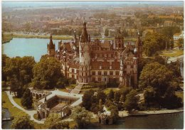 Ansichtskarte Schwerin Luftbild Schloß - Interflug 1987 - Schwerin