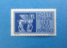 1974 ITALIA FRANCOBOLLO NUOVO STAMP NEW MNH** - ESPRESSO CAVALLI ALATI DA 250 LIRE - - 1961-70:  Nuovi