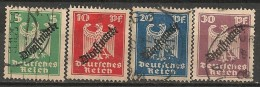 Timbres - Allemagne  - Service - 1924 - N° 69 à 72 -