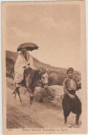 NATIVE WOMAN TRAVELLING IN SYRIA - Syria