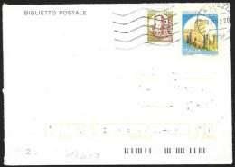 Italia/Italie/Italy: Intero, Stationery, Entier, Castello, Castle, Château
