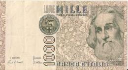 1000 Lire 1982 - Marco PAULO - N° FB 248857 I  - ITALIE - - [ 2] 1946-… : Républic