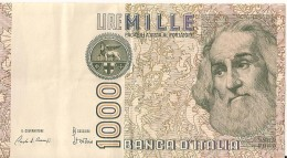 1000 Lire 1982 - Marco PAULO - N° EC 555165 I  - ITALIE - - [ 2] 1946-… : République