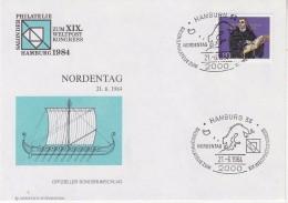 Germany 1984 Weltpostkongress Hamburg Nordentag Cover (F5827) - Brieven En Documenten