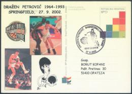 Croatia Drazen Petrovic Private Special Postcard Postal Stationery  Bb161026