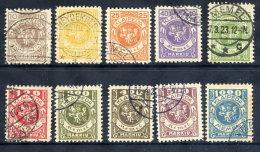 MEMEL (Lithuanian Occ) 1923 (Feb) Definitive Set Used.  Michel 141-50 - Klaipeda