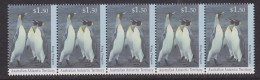 AAT 1993 King Penguin 1.50 $ Value Strip Of 5v   ** Mnh  (33093C) - Australian Antarctic Territory (AAT)