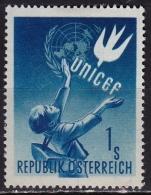 Osterreich /  Austria 1949 UNICEF 1 Sch. Blue Mi 933 MH
