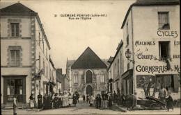 44 - GUEMENE-PENFAO - Rue De L'église - Très Belle Carte - Magasin CORMERAIS - Machine à Coudre - Cycles - Guémené-Penfao