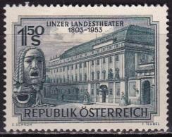 Osterreich /  Austria 1953 Linz Theatre 150 Years 1.50 Sch. Bluegrey Mi 988 MH