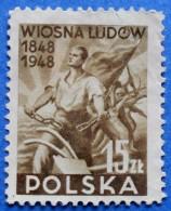 POLAND REVOLUTION CHAIN SCISSION 15 Zl.1948 Mic.497 Perf.11 - USED - Gebraucht