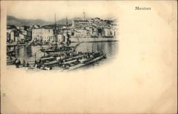 06 - MENTON - Carte Nuage - Sous-marins - Menton