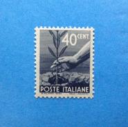 1945 ITALIA FRANCOBOLLO NUOVO STAMP NEW MNH** DEMOCRATICA 40 CENT - 6. 1946-.. Repubblica