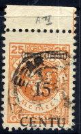 MEMEL 1923 (16-20. Apr) 15 C. On 25 Mk. Type A II, Used.  Michel  170 A II  Cat. €20 + 50% - Klaipeda