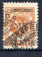 MEMEL 1923 (16-20. Apr) 15 C. On 25 Mk. Type B II, Used.  Michel  170 B II  Cat. €20 + 200% - Klaipeda