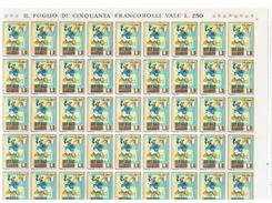 SAN  MARINO:  1970  WALT  DISNEY  -  £. 5  PAPERINO  FOGLIO  50  N. -  SASS. 818 - Hojas Bloque