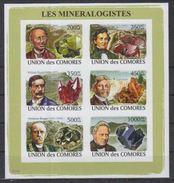 Comores Minerals Minéralogistes Imperf Sheetlet