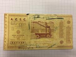 16W/2 - Buvard Publicitaire ACEC Charleroi Bureau Gent 1938 - Buvards, Protège-cahiers Illustrés