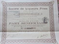 ACTION DE CENT FRANCS 1913 - SOCIETE DE LIQUEURS FINES - Other