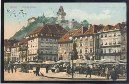 AUSTRIA GRAZ 8 OLD POSTCARDS Street Scene Bahnhof - Graz