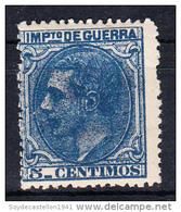 ESPAÑA 1879. ALFONSO XII EDIFIL Nº N.E.4 . 5 CENT. IMPUESTO DE GUERRA .NUEVO SES846 - 1875-1882 Kingdom: Alphonse XII