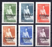 1942 FINLAND EAST KARJALA MANNERHEIM MICHEL: KAR22-27 MNH ** - Finland