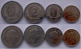 EST CARIBBEN SERIE 4 MONETE 10-5-2-1 CENT - Münzen
