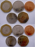 GIORDANIA (2009-2010)SERIE 5 MONETE 1-5-10 PIASTRE + 0,25 + 0,5 DINARS CON BIMETALLICA - Giordania