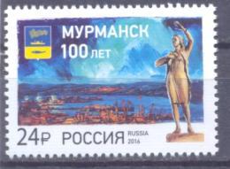 2016. Russia, 100y Of Murmansk City, 1v, Mint/**