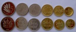 LESOTHO SERIE  6 MONETE  5-2-1 MALOTI +  50-20-10  LISENTE FDC - Lesotho