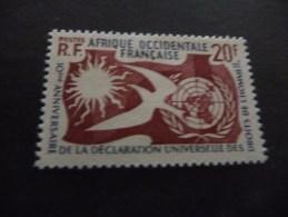 TIMBRE   AOF       N  74      COTE  1,90  EUROS   NEUF  CHARNIERE - Neufs