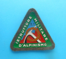 ITALIAN ARMY MOUNTAINEEREING INSTRUCTOR Vintage Patch * Mountainous Military Units Armee Ecusson Ice Ax Piolet Piqueta - Patches