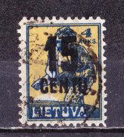 Lituania 1922 Sovrastampato-Usato