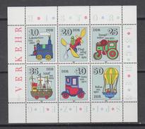 DDR  Jahrgang 1980 KB  Historisches Spielzeug Postfrisch - Blocs