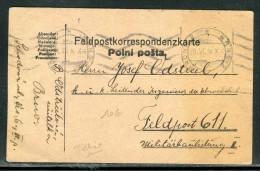 Tchécoslovaquie - Carte En Franchise Militaire De Brno En 1916  Réf O 115 - Tchécoslovaquie