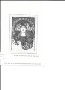 GRAVURE ALPHONSE MUCHA - Old Paper