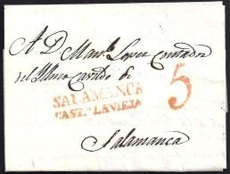 1827. ESPAÑA. SPAIN. A SALAMANCA. - ...-1850 Prefilatelia