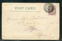 Grande Bretagne - Carte Postale De Londres Pour Alger En 1901   Réf O 123 - Storia Postale
