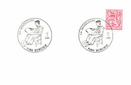 Belgium 1983 Special Cancellation On Small Cover Binche 12-Mar-1983, Lacemaker, Dentellière Kantwerkster, Textile - Textile