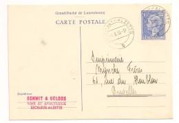 LETTRE COVER LUXEMBOURG 1955 ESCH-Sur-ALZETTE -> Bruxelles